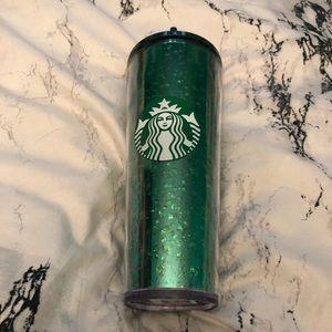 Starbucks Green Sparkle Holiday 24 oz Tumbler New